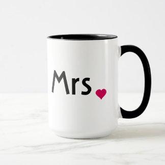 Mrs. mug with red love heart