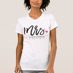 Mrs. (Name) Est. Your Wedding Year T-Shirt