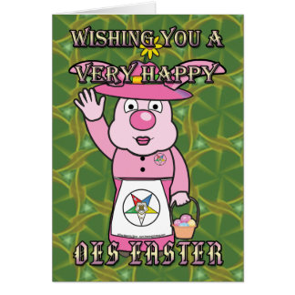 Mrs. OES Easter Bunny Card
