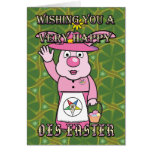 Mrs. OES Easter Bunny Greeting Cards