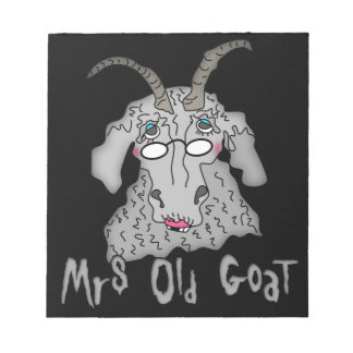 Mrs Old Goat Funny Cartoon Note Pads