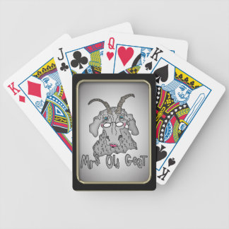 Mrs. Old Goat Funny Goat Bicycle® Playing Cards
