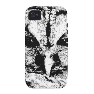 Mrs Owl Mar2015 - Black on White iPhone 4/4S Cover