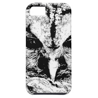 Mrs Owl Mar2015 - Black on White iPhone 5 Covers