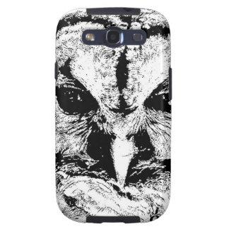 Mrs Owl Mar2015 - Black on White Galaxy SIII Case