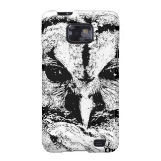 Mrs Owl Mar2015 - Black on White Galaxy S2 Cover