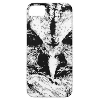 Mrs Owl Mar2015 - Black on White iPhone 5 Case