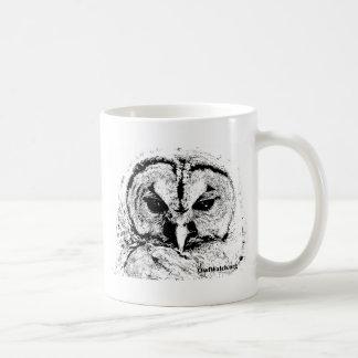 Mrs Owl Mar2015 - Black on White Classic White Coffee Mug