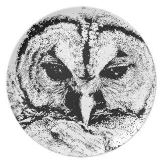 Mrs Owl Mar2015 - Black on White Party Plates