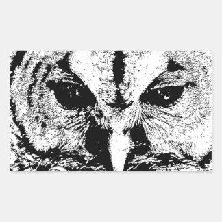 Mrs Owl Mar2015 - Black on White Rectangular Sticker