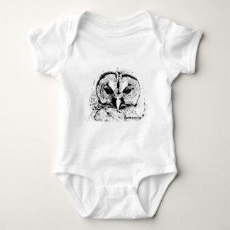 Mrs Owl Mar2015 - Black on White T-shirt