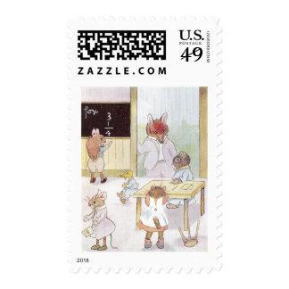 Mrs. Owl's School Postage Stamps