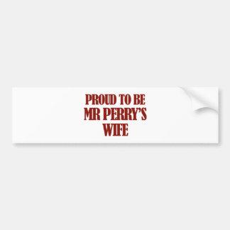 Mrs PERRY designs Car Bumper Sticker