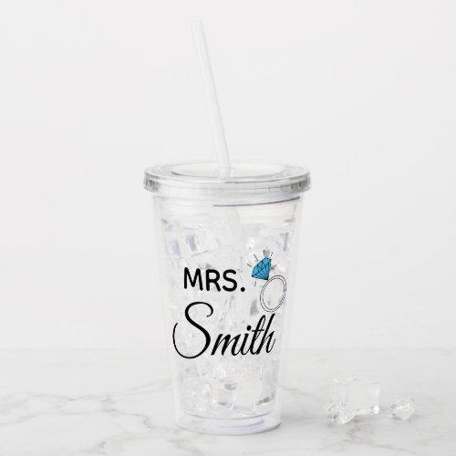Mrs. Personalized Acrylic Tumbler