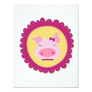 Mrs Piggy 4.25x5.5 Paper Invitation Card