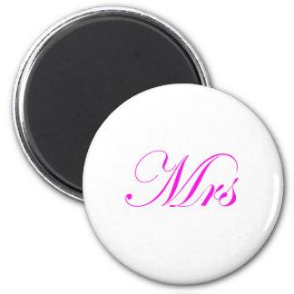 Mrs-Pink Refrigerator Magnet
