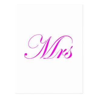 Mrs-Pink Postcard
