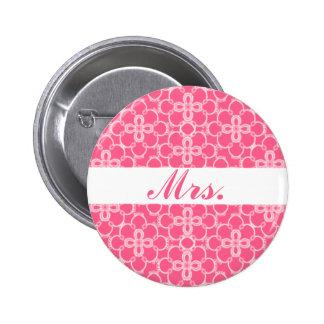 Mrs. Pink Wedding Button