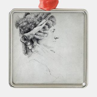 Mrs Piozzi Metal Ornament
