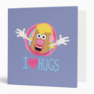 Mrs. Potato Head - I Love Hugs 3 Ring Binder