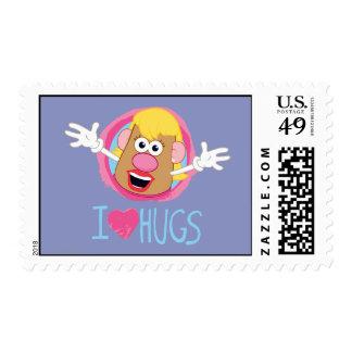 Mrs. Potato Head - I Love Hugs Postage