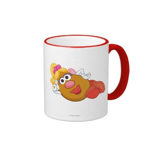 Mrs. Potato Head Laying Down Coffee Mugs