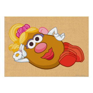 Mrs. Potato Head Laying Down Poster