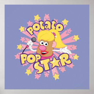Mrs. Potato Head - Pop Star Poster