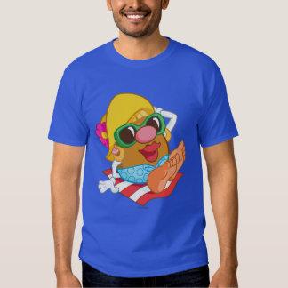 Mrs. Potato Head Sunbathing Shirt