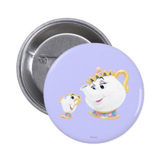 Mrs. Potts and Chip 2 Inch Round Button