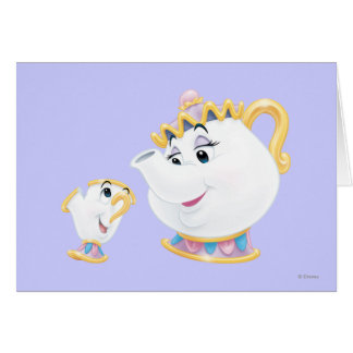 Mrs. Potts and Chip Greeting Card