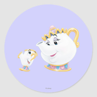 Mrs. Potts and Chip Classic Round Sticker