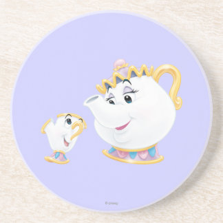 Mrs Potts and Chip Beverage Coasters
