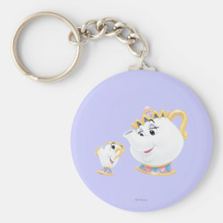 Mrs. Potts and Chip Keychain