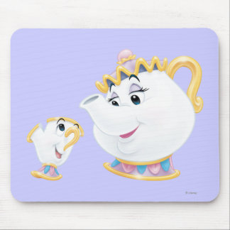 Mrs. Potts and Chip Mouse Pad