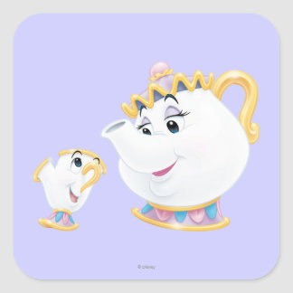 Mrs. Potts and Chip Square Sticker
