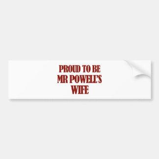 Mrs POWELL designs Bumper Sticker