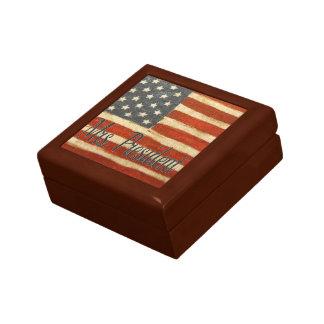 mrs president   Vintage Flag square.jpg Keepsake Box