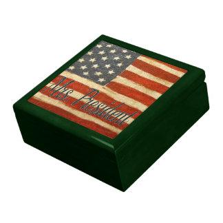 mrs president   Vintage Flag square.jpg Trinket Boxes