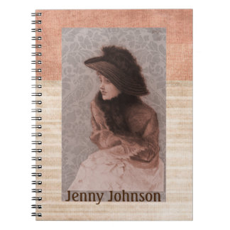 Mrs. Preston Apricot And Textured Notebooks