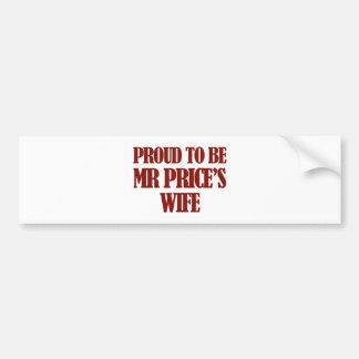 Mrs Price designs Car Bumper Sticker