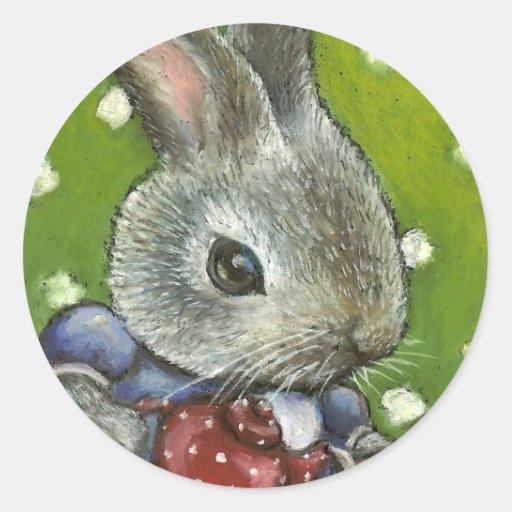 Mrs Rabbit making tea Stickers