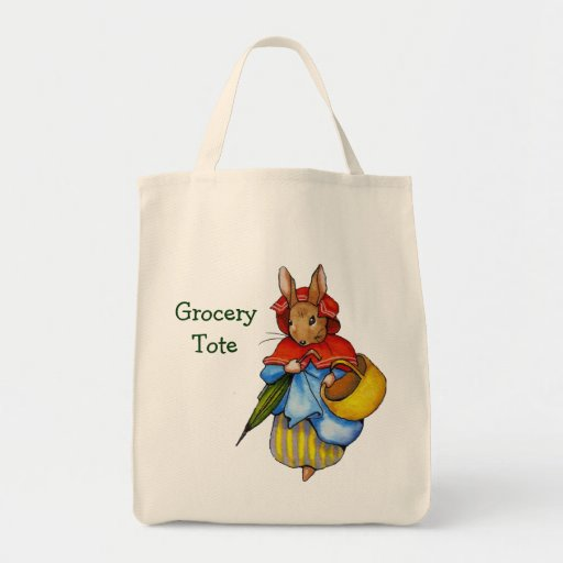 Mrs. Rabbit with Basket: Grocery Tote