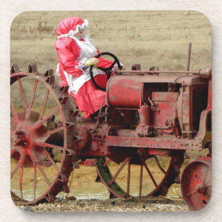 Mrs. Red Neck Santa Drink Coaster