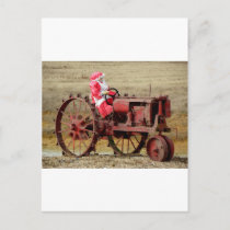 Mrs. Red Neck Santa Holiday Postcard