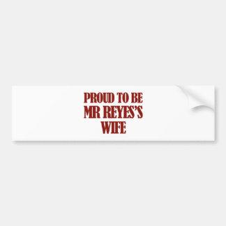 Mrs reyes designs car bumper sticker