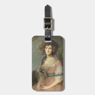 Mrs. Richard Brinsley Sheridan, 1785- 87 Bag Tag