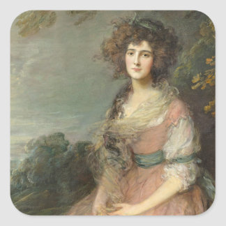 Mrs. Richard Brinsley Sheridan, 1785- 87 Square Sticker
