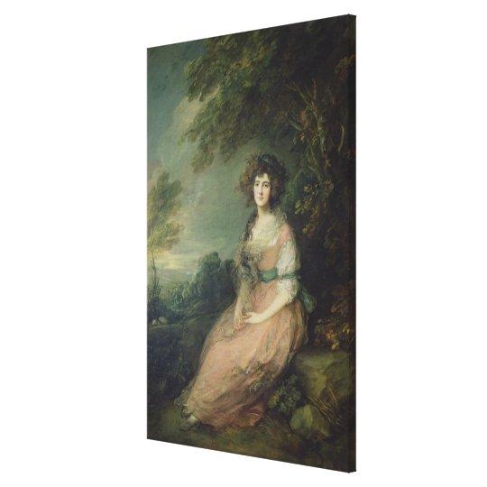 Mrs. Richard Brinsley Sheridan, c.1785-87 Canvas Print