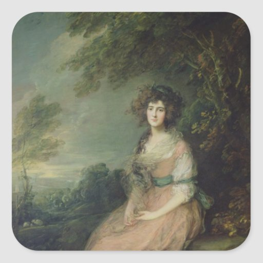 Mrs. Richard Brinsley Sheridan, c.1785-87 Square Sticker